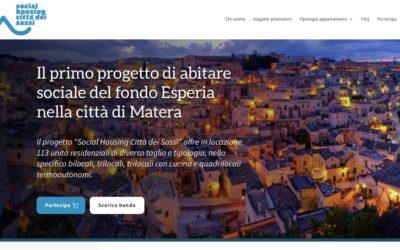 Matera Social Housing: pubblicato il bando per partecipare al progetto