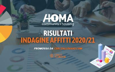 Report Indagine Affitti 2020 / 2021: ecco l'analisi dei dati raccolti da cercoalloggio.com